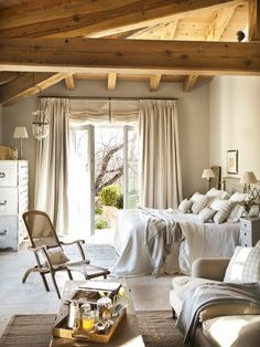 Home Decor Bedroom .Home Decor Bedroom Country Bedroom Design, French Country Bedrooms, Country Bathrooms, Country Kitchens, Sweet Home, White Bedding, Design Case, Beautiful Bedrooms, Cozy House