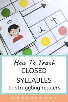 This is a great activity that utilizes Elkonin boxes to show directionality and help the students pace their reading of a word. Closed syllables can be hard for students struggling with dyslexia or other fluency disorders. Dyslexia Activities, Dyslexia Teaching, Teaching Phonics, Phonics Activities, Teaching Reading, Reading Intervention Activities, Phonics Centers, Reading Fluency, Teaching Resources