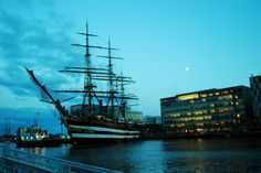 Ciao! The last of the Tall Ships leaving Dublin tonight... the Italian Navy vessel Amerigo Vespucci