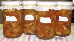 Zbor către vis: Dulceaţă de gutui cu nuci Pickles, Salsa, Deserts, Goodies, Food And Drink, Jar, Sweets, Cheese, Homemade