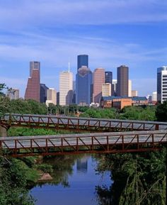 Downtown Houston a view from Buffalo Bayou.