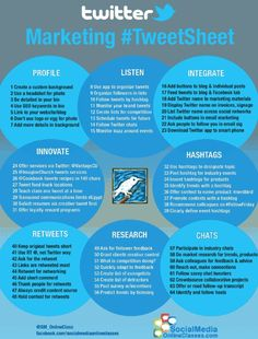 #Twitter tips for Social Media [infographic] via onlineclasses.com