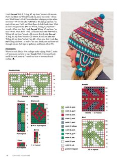 Knitting Traditions Spring 2016 - 轻描淡写 - 轻描淡写 --- Click through for knitting magazine article (near to last pages) with full pattern in English. Knitting Charts, Knitting Stitches, Baby Knitting, Knitting Patterns, Crochet Patterns, Free Knitting, Knit Mittens, Knitted Hats, Crochet Chart