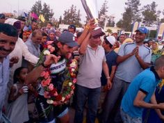 A street party erupts in Morocco after the success of CMI's Mathieu Perget!  http://www.cmicycling.com/