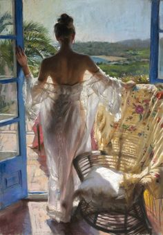 Spanish Painter Vicente Romero Gallery 2010-2011 Lady And The View