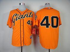 Christmas Day Cheap Wholesale Mens 2014 San Francisco Giants  40 Madison  Bumgarner Alternate Orange Cool 6cf310add