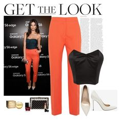 """""""Get The Look - Emily Ratajkowski"""" by katiethomas-2 ❤ liked on Polyvore featuring Olsen, Cédric Charlier, Sergio Rossi, Rodarte, Charlotte Olympia and DKNY"""