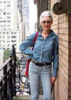 Image result for blue jean style over 60