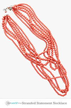 Coral Stranded Statement Necklace