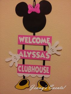 Hey, I found this really awesome Etsy listing at https://www.etsy.com/listing/164835283/minnie-mouse-welcome-sign
