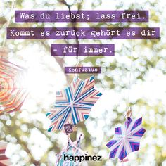 Happinez Mindstyle Magazin - Zitate Meditation, German Quotes, Picture Quotes, Angst, Thoughts, Words, Rat, Let Go Quotes, Learn To Let Go