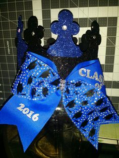 Class of 2016 Senior Crown Basic Academy with a Bow. Don't have to pin anymore..….. made this one! :)