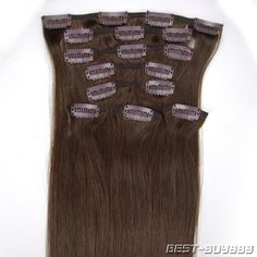 Fast Delivery High Quality 20inch Remy 8pcs Clip Human Hair Extension Beauty 04 | eBay