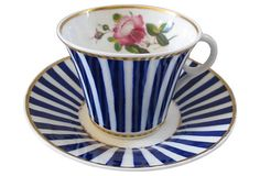 19th-C Worcester Tea Cup  & Saucer