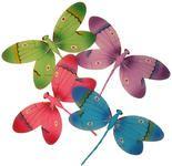 White Nylon Artificial Dragonflies - Birds and Butterflies Sale - Sales