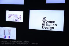 """W.Women in Italian design"" on show at #laTriennale.  #MDW2016 #MCaroundSaloni #MilanDesignWeek"