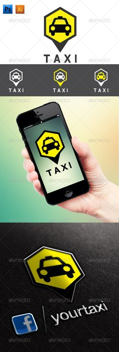 Taxi Logo Eps Vector CMYK And Psd -Text can change Fonts: Belwe Lt BT Light http://www #Taxi, #Logo