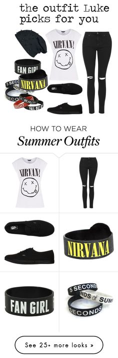 """""""the outfit Luke picks for you"""" by bands-save-fans on Polyvore featuring Topshop and Vans"""
