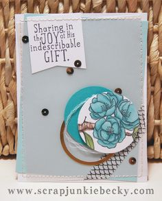 Fun card ideas using the Indescribable Gift stamp set ~Becky Cowley