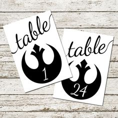 Star Wars Wedding Table Numbers Printable Sci-fi decorations centerpieces signs instant download geek nerd ceremony party 1 through 24