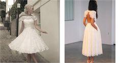 Novias con faldas midi, ¡siguiendo tendencias!