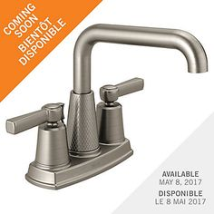 The Allentown lavatory faucet is a modern take of industrial design. The textured patterning on the spout base plus the square detailing on the spout and handle lend to its unique style. Allentown comes with Deltas SpotShield™ Technology Brushed Nickel finish that helps reduce stain and odor-causing bacteria growth on the faucet surface and resists water spots, fingerprints and stains so the faucet stays cleaner longer. Delta is committed to supporting water conservation around the globe…