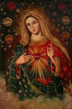 Virgen del sagrado corazón de Jesús