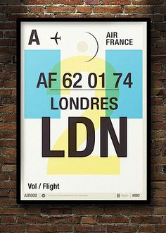 Modern Flight Tag Prints