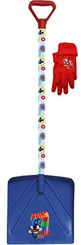 Disney Mickey Mouse Kids Winter Snow Shovel and Fleece Winter Glove Combo, 72560K, Size: Kids