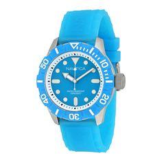 Nautica Blue Dial Aqua Silicone Rubber Unisex Watch A09602G. http://www.watchvendor.ca/nt-a09602g.html