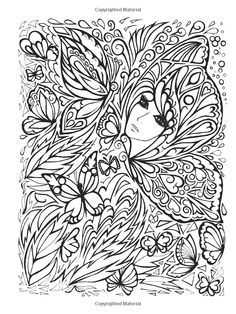 Coloring For Adults The Secret Garden And Butterflies On