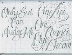 Image detail for -Tattoo Lettering 16 by ~12KathyLees12 on deviantART