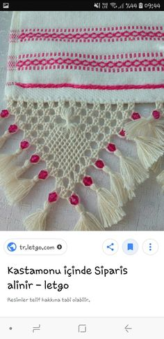Embroidered Towels, Yarn Crafts, Nice, Hammocks, Towels, Flamingo, Needlepoint