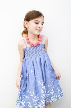 Blue Vine Smock Dress - Infant, Toddler & Girls. Blue Vine Smock Dress - Infant, Toddler & Girls