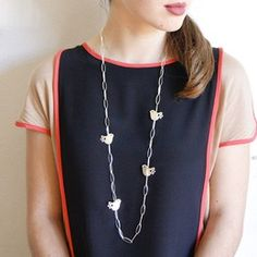Multiple Dove Bird Chain Necklace
