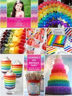 Image detail for -Inspiration Board: Rainbow-Theme Birthday Party Rainbow Dash Party, Rainbow Parties, Rainbow Birthday Party, Rainbow Theme, 4th Birthday Parties, Rainbow Fruit, Birthday Ideas, Birthday Celebrations, Themed Parties