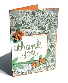 Stampin' Up! Watercolour Thankyou for SB100. Claire Daly Melbourne Australia.