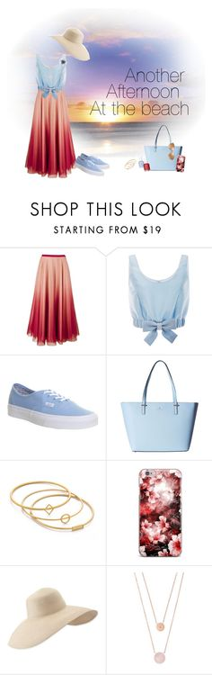 """""""Sunset"""" by dancelover-567 ❤ liked on Polyvore featuring RED Valentino, Honor, Vans, Kate Spade, Madewell, Eric Javits, Michael Kors, Essie and Versace"""