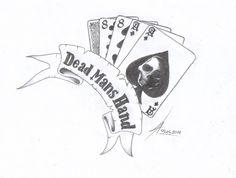 Dead mans hand: tattoo McMurphy had in One Flew Over the Cuckoos Nest, I love th. Dead Mans Hand Tattoo, Hand Tattoo Images, Tattoo Hand, Tattoo Pics, Future Tattoos, New Tattoos, Joker Symbol, Herren Hand Tattoos, Poker Tattoo