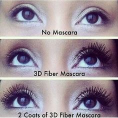 3D Lash Mascara Younique Before and Afters