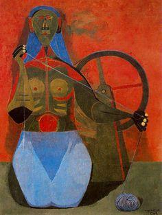 Rufino Tamayo - Spinning woman
