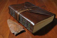 Handmade Leather Travel Journal Sketchbook by TheRootlessSpruce, $45.00