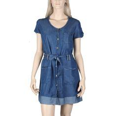 Robe en jeans couleur foncé Maloka modèle Tanao de la collection printeps été