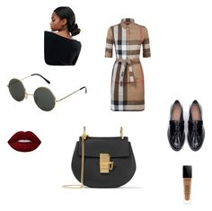 """""""Sans titre #98"""" by priscayuvula ❤ liked on Polyvore featuring Burberry, Chloé, Zara and ASOS"""