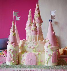 Paso a paso pastel con forma de castillo