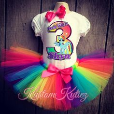 my little pony birthday outfit , rainbow dash , my little pony tutu set rainbow tutu on Etsy! Rainbow Dash Party, Rainbow Dash Birthday, Rainbow Parties, Rainbow Tutu, My Little Pony Party, Cumple My Little Pony, Birthday Party Outfits, 3rd Birthday Parties, 4th Birthday