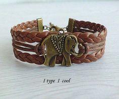 Ancient bronze elephant  bracelet by itypeicool on Etsy, $1.99