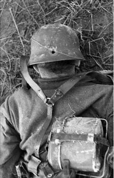 Was he running away? Didn't help him anyway. Russia, 1943.