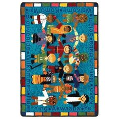 Educational Essentials VIP Welcome in Many Languages Kids Rug Rug Size 22 x 210 ** Want to know more, click on the image.