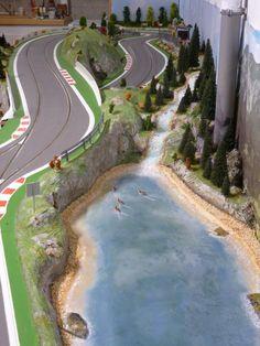 Slot Car Racing, Slot Car Tracks, Train Tracks, Slot Car Sets, Slot Cars, Rc Cars, Gotham News, Planet Coaster, Karting